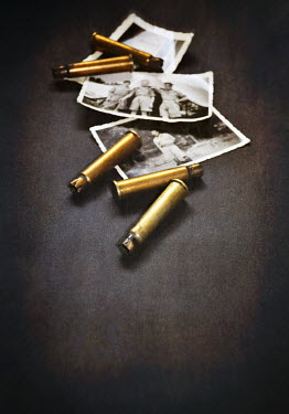 Lyn Randle VINTAGE WAR PHOTOS AND BULLETS Miscellaneous Objects