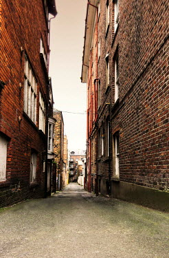 Victor Habbick ALLEYWAY THROUGH BRICK TOWN HOUSES Streets/Alleys
