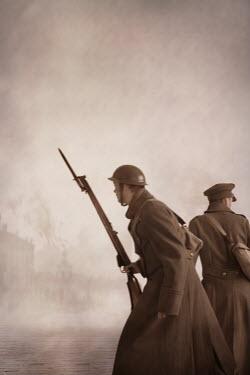 Lee Avison two world war one soldiers in battle Men