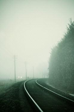 Carmen Spitznagel MISTY TRAIN TRACKS Railways/Trains