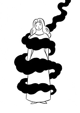 Mayte Alvarado Simancas WOMAN CIRCLED BY CLOUDS