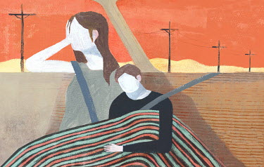 Gonzalo Martinez Moreno GIRL AND BOY TRAVELLING IN CAR