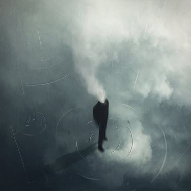 Michael Vincent Manalo HEADLESS MAN WITH RAIN AND CLOUDS
