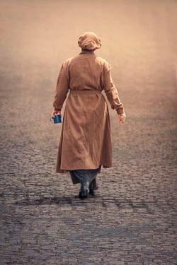 Emma Goulder HISTORICAL WORKER WOMAN ON COBBLED STREET Women