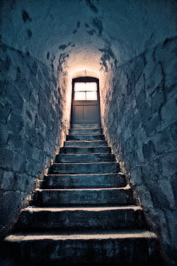 Paul Knight STAIRS LEADING UP TO DOOR IN CELLAR Interiors/Rooms