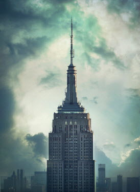 Mark Owen EMPIRE STATE BUILDING UNDER CLOUDY SKY Specific Cities/Towns