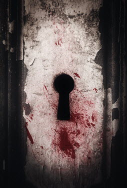 Amy Weiss BLOOD ON KEYHOLE OF DERELICT DOOR Building Detail