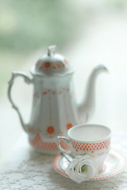 Ildiko Neer VINTAGE CHINA TEACUP AND TEAPOT Miscellaneous Objects