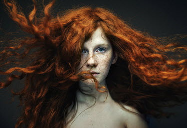 Dmitry Ageev YOUNG WOMAN WITH LONG RED HAIR AND FRECKLES Women