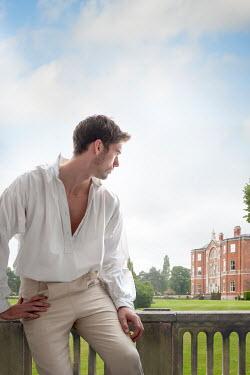 Lee Avison historical man looking towards mansion house Men