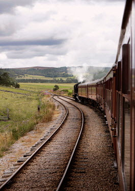 Victor Habbick HISTORIC STEAM TRAIN TRAVELLING IN COUNTRYSIDE Railways/Trains