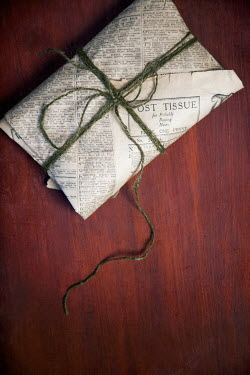 Miguel Sobreira parcel wrapped in vintage newspaper Miscellaneous Objects