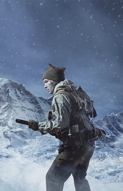 CollaborationJS WW2 commando man in snowy mountains Men