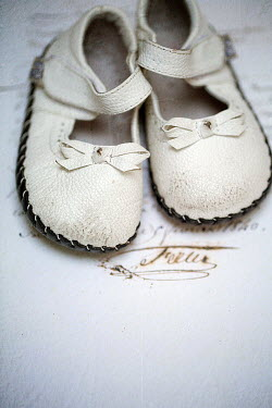 Alison Archinuk LITTLE GIRLS OLD WORN VINTAGE SHOES Miscellaneous Objects