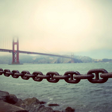 Susan Fox RUSTY IRON CHAIN NEAR GOLDEN GATE BRIDGE Bridges
