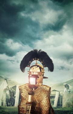 Stephen Mulcahey ancient roman officers armour on battlefield Men