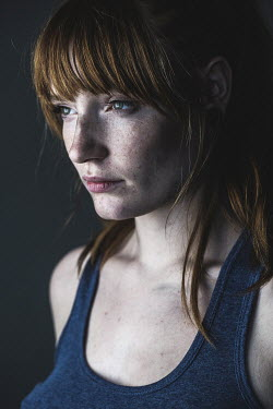 Rekha Garton YOUNG WOMAN WITH RED HAIR AND FRINGE Women