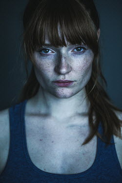Rekha Garton YOUNG WOMAN WITH FRECKLES AND FRINGE Women