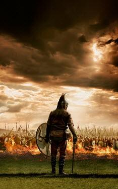 Stephen Mulcahey Viking warrior by saxon army Men