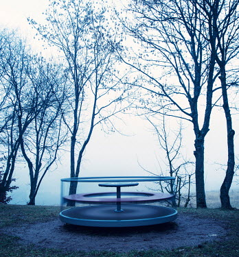 Carmen Spitznagel ROUNDABOUT BY TREES IN PARK Miscellaneous Objects