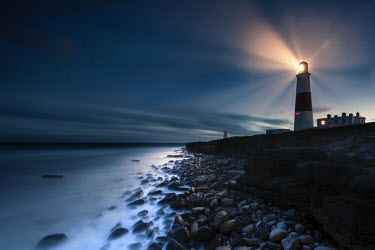 Ollie Taylor LIGHTHOUSE AND SEA AT NIGHT Miscellaneous Buildings