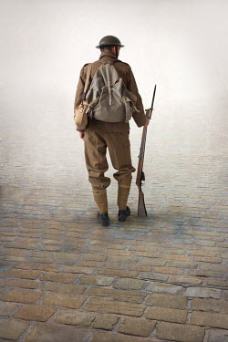 Lee Avison world war one soldier with rifle Men