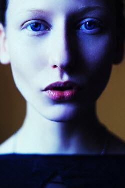 Ilona Shevchishina YOUNG WOMAN WITH BLUE EYES IN SHADOWS Women