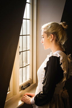 Elisabeth Ansley YOUNG BLONDE HISTORICAL MAID BY WINDOW Women