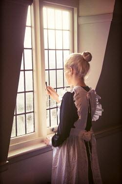 Elisabeth Ansley YOUNG BLONDE HISTORICAL MAID OPENING WINDOW Women