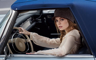 Maxim Guselnikov WOMAN IN VINTAGE CAR Women