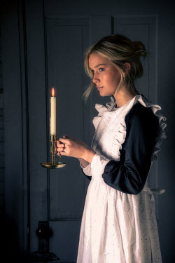 Elisabeth Ansley YOUNG BLONDE HISTORICAL MAID WITH CANDLE Women