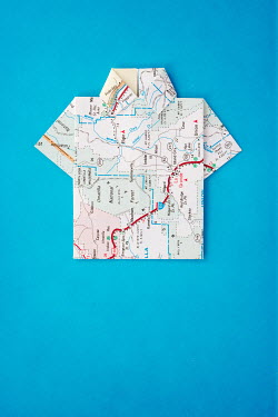 Irene Suchocki SHIRT MADE FROM PAPER MAP Miscellaneous Objects