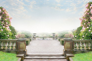 Lee Avison garden path and terrace of historic mansion Paths/Tracks