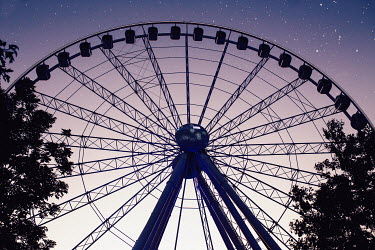 Nina Masic SILHOUETTE OF FERRIS WHEEL UNDER STARRY SKY Miscellaneous Places