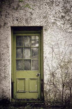 Andy & Michelle Kerry GREEN DOOR OF DERELICT HOUSE Building Detail
