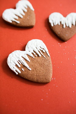 Jovana Rikalo THREE HEART SHAPED COOKIES WITH ICING Miscellaneous Objects