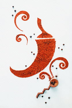 Dina Belenko CHILLI PEPPER PATTERN MADE OF SPICE Miscellaneous Objects