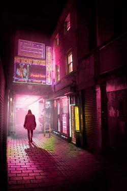James Wragg MAN WALKING ON CITY STREET AT NIGHT Men
