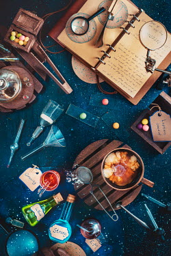 Dina Belenko NOTEBOOK NEAR POTION MAKING EQUIPMENT Miscellaneous Objects