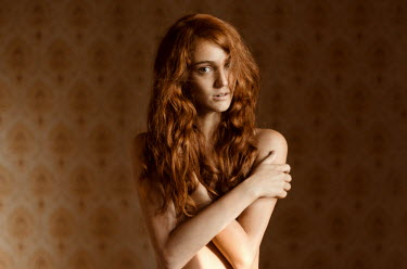 Ciro Galluccio NUDE WOMAN WITH RED HAIR Women