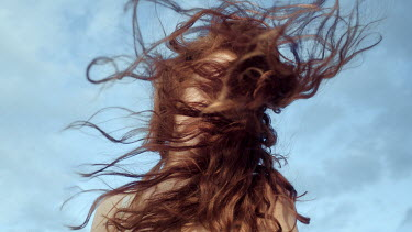 Ciro Galluccio WOMAN WITH RED HAIR IN WIND Women