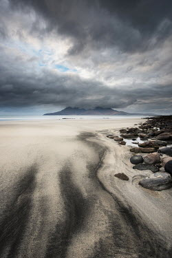 Ollie Taylor MOUNTAIN ON WINTER SANDY BEACH Seascapes/Beaches