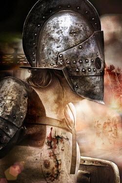 Nik Keevil ANCIENT ROMAN WEARING HELMET ON BATTLEFIELD Men