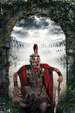 Nik Keevil ANCIENT ROMAN SOLDIER UNDER ACH IN COLLOSEUM Men