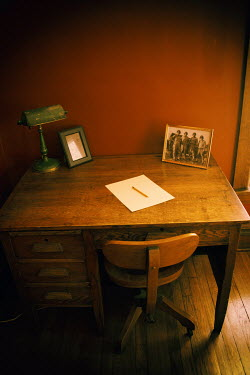 Elisabeth Ansley 1940S WRITING DESK WITH PHOTO AND LETTER Interiors/Rooms