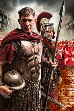 Nik Keevil ANCIENT ROMAN ARMY MEN IN COLOSSEUM Groups/Crowds