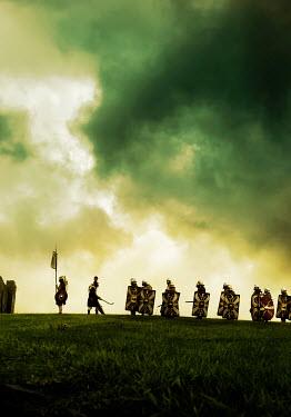 Stephen Mulcahey troop of roman soldiers on battlefield Groups/Crowds