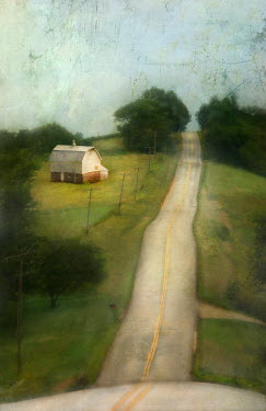 Jamie Heiden BARN ON SIDE OF COUNTRY ROAD Roads