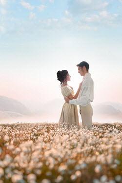 Lee Avison regency couple standing in a beautiful landscape Couples