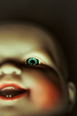 Magdalena Russocka CREEPY DOLLS HEAD WITH GREEN EYE Miscellaneous Objects